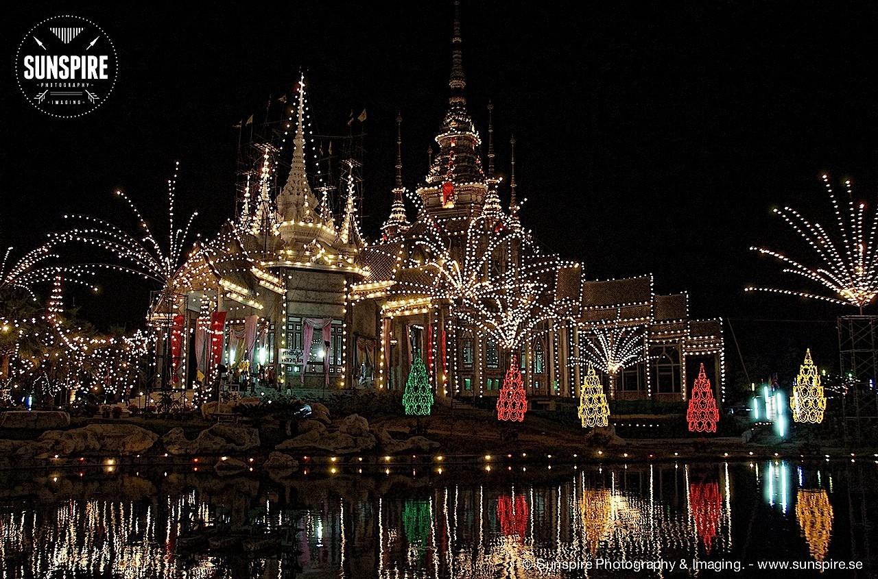 Wat Luang Phor Toh in the evening, Sikhiu, Nakhon Ratchasima, Thailand