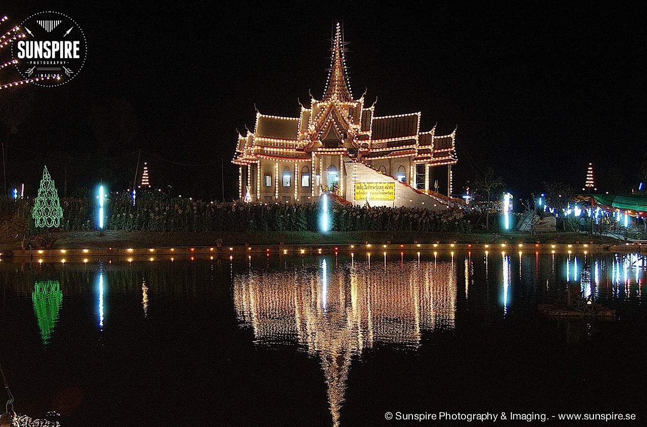Wat Luang Phor Toh in the evening 2, Sikhiu, Nakhon Ratchasima, Thailand