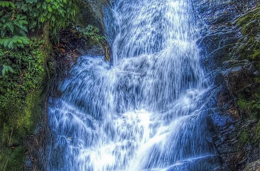 Waterfall at The Royal Garden Siribhume, Inthanon, Thailand