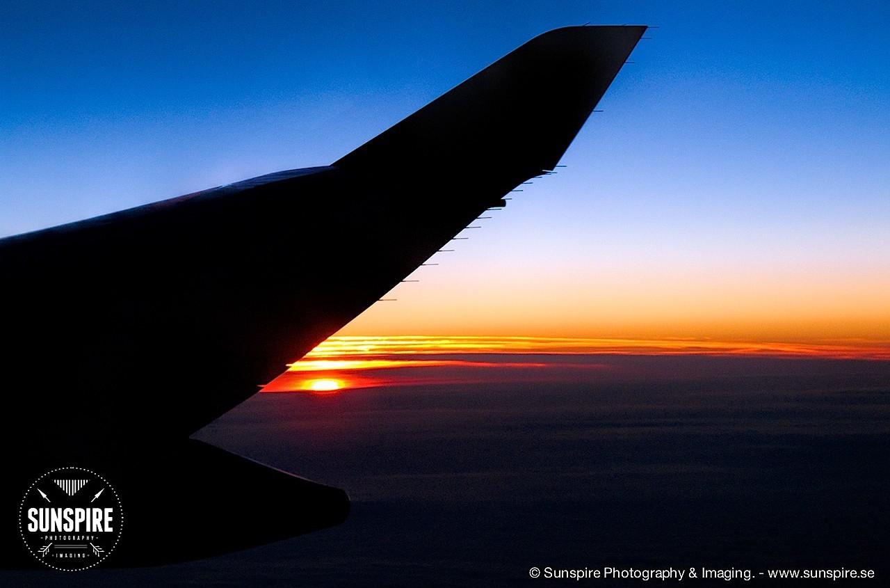 Sunset at 37000 feet...