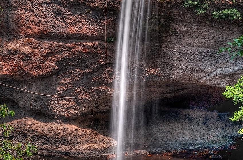 Haeo Suwat Waterfall at Khao Yai National Park, Nakhon Ratchasima, Thailand. Top view