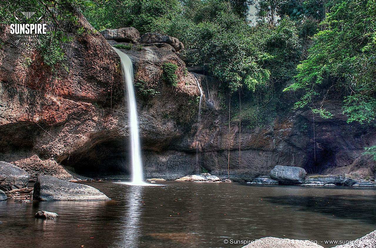 Haeo Suwat Waterfall at Khao Yai National Park, Nakhon Ratchasima, Thailand.