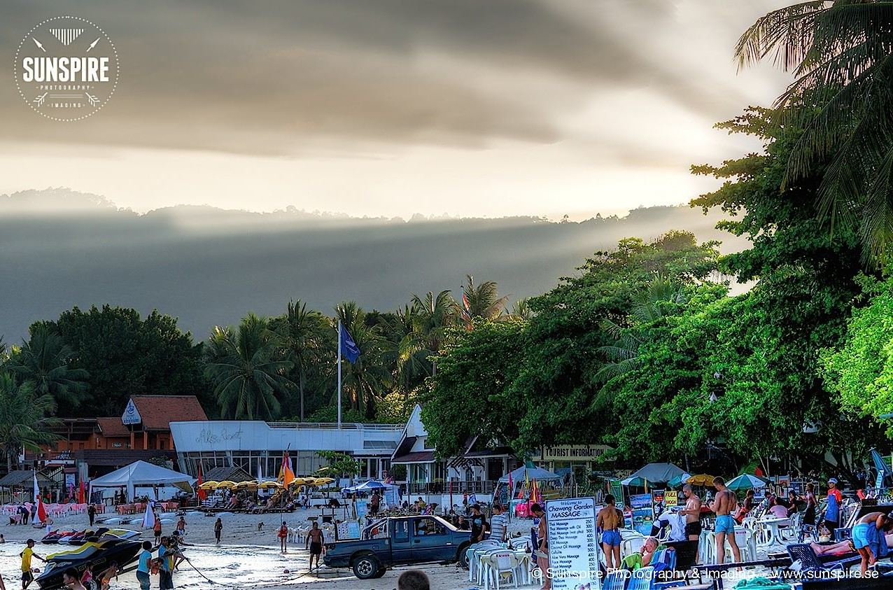 Late afternoon at Chaweng Beach, Koh Samui Thailand...