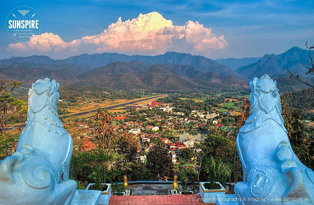 Mae Hong Son seen from Wat Phra That Doi Kong Mu temple.
