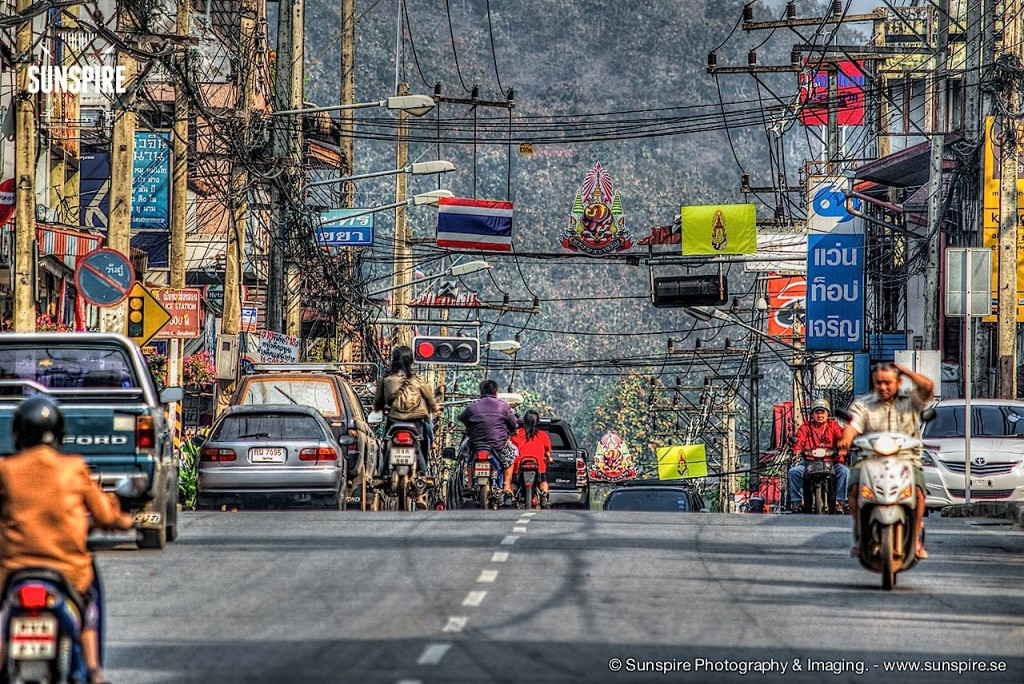 Streetlife in Mae Hong Son, Northern Thailand...