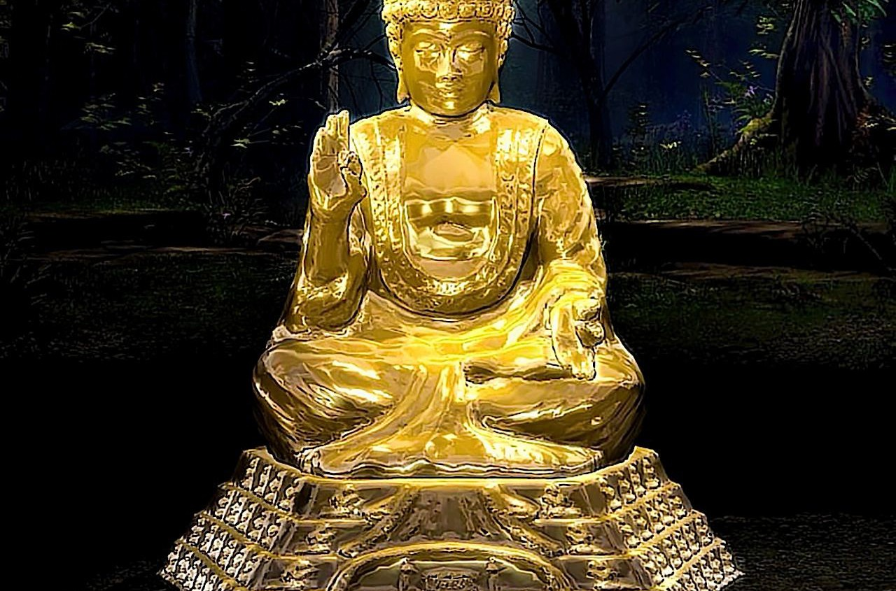 Buddha statue, Rendered In Poser 2010 Pro.