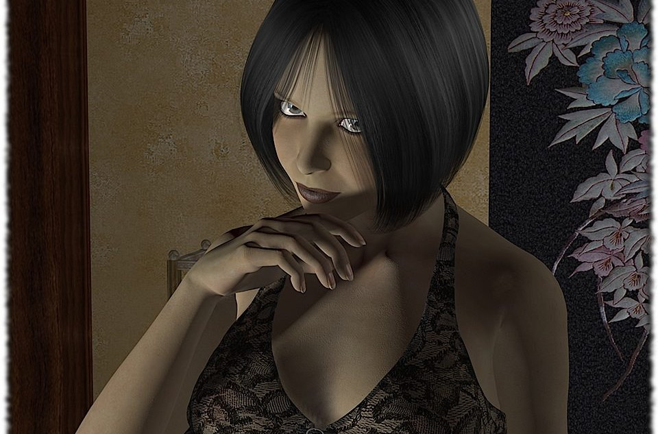 Japanese flair... Modeled and rendered in Poser 2010 Pro.