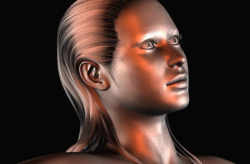 Silver Girl. Rendered in Poser 2010 Pro
