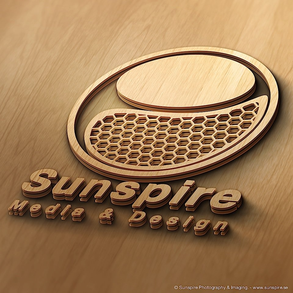 3D Logotype, Wood cut. Created in Photoshop CC