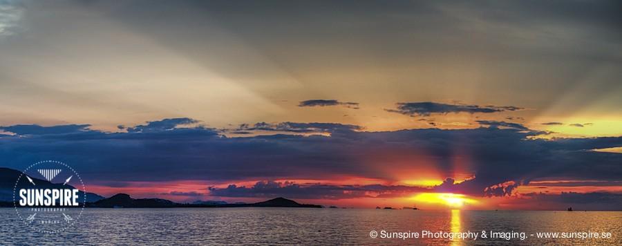 Panorama - Sunset at Bophut Beach, Koh Samui, TH