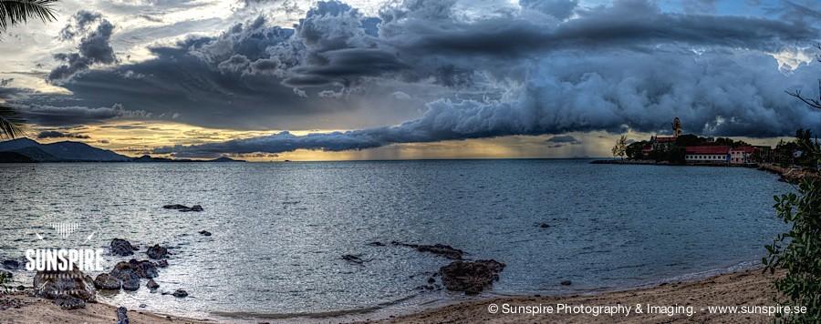 Panorama - Approaching thunderstorm... Bo Phut, Koh Samui, TH
