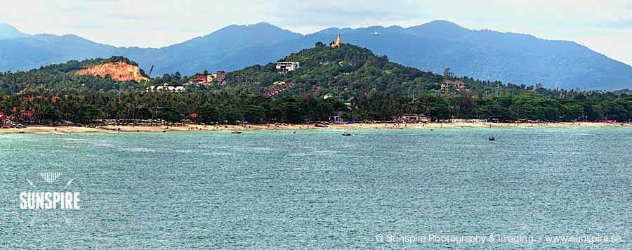 Panorama - Chaweng Beach, Koh Samui, TH, seen from Lad Koh viewpoint