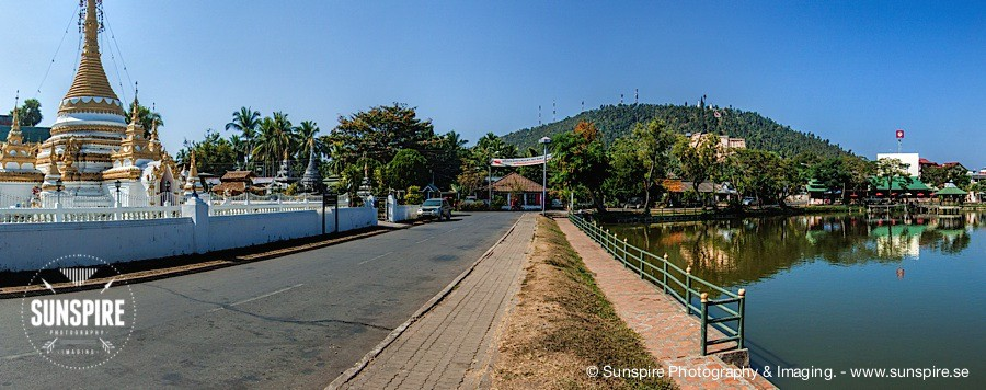 Panorama – Mae Hong Son, outside Wat Chong Kam Temple