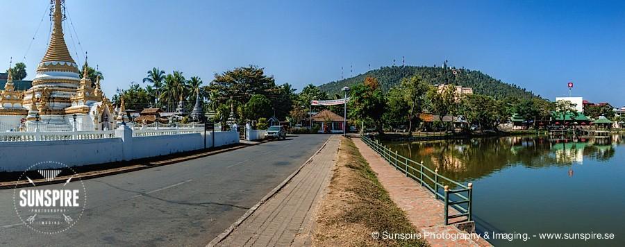 Panorama – Mae Hong Son, outside Wat Chong Kam Temple