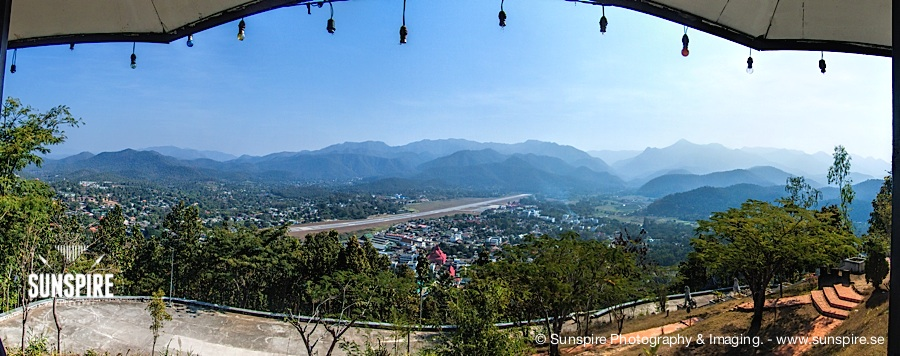 Panorama - Mae Hong Son seen from Doi Kong Mu temple