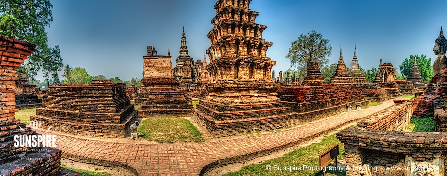 Panorama - Sukhothai Historical Park, full 360 view - Sukhothai, TH