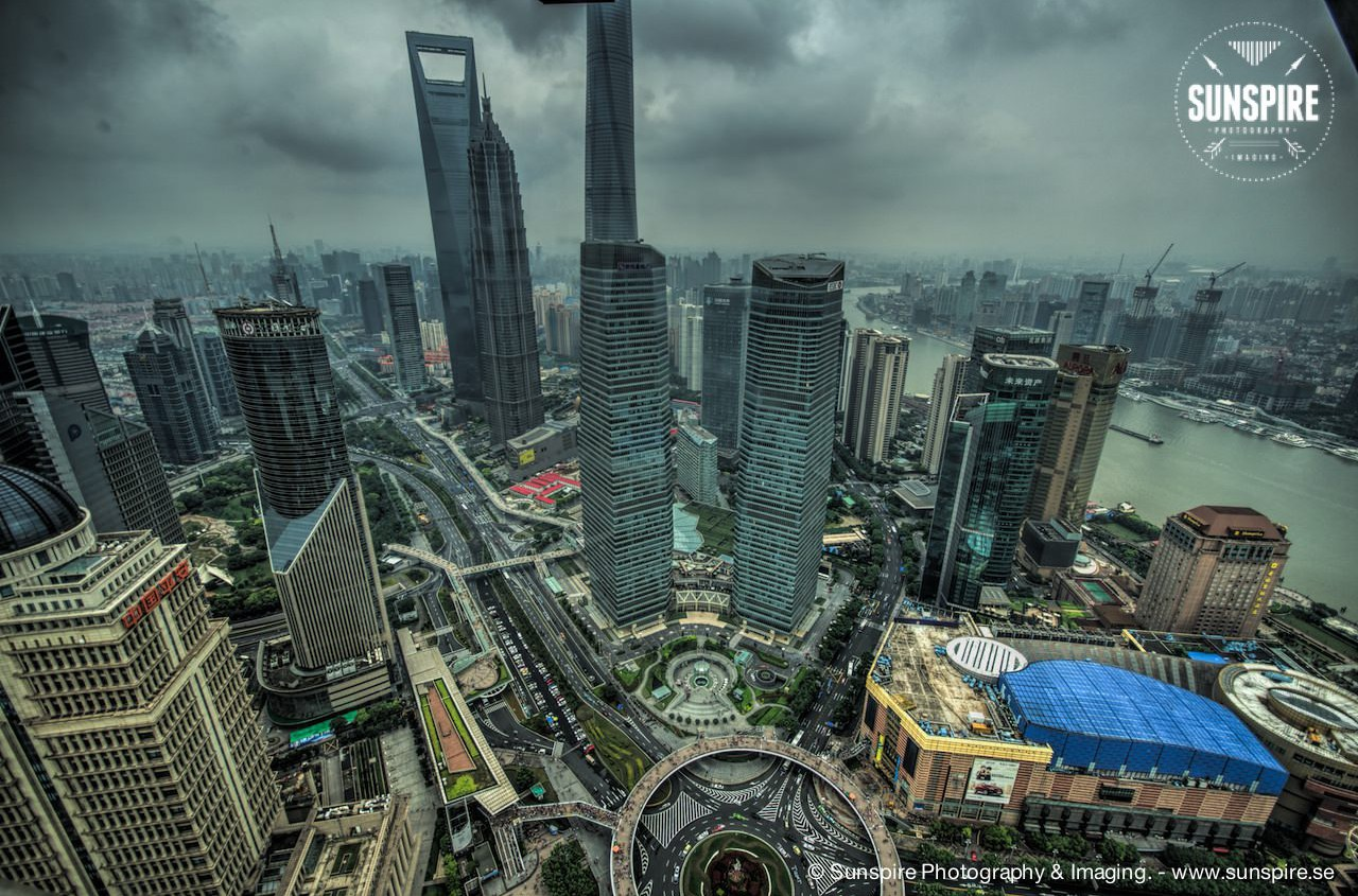 Oriental Pearl Tower - view over Shanghai