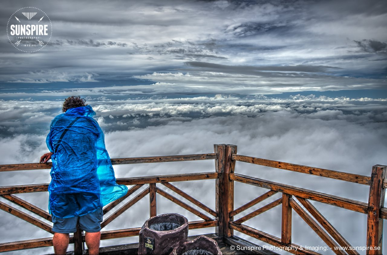 Above the clouds.....