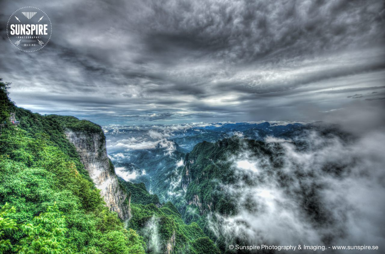 Southern overlook of Tianmen Mountain