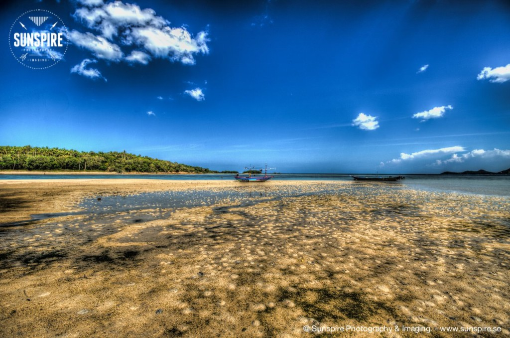 Chaweng beach, low tide