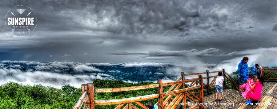Panorama - Tianmen Mountain, Yu Hu peak.
