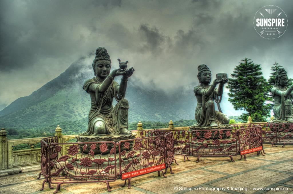 Statues at Tian Tan Buddha, Lantau Island, Hong Hong Kong