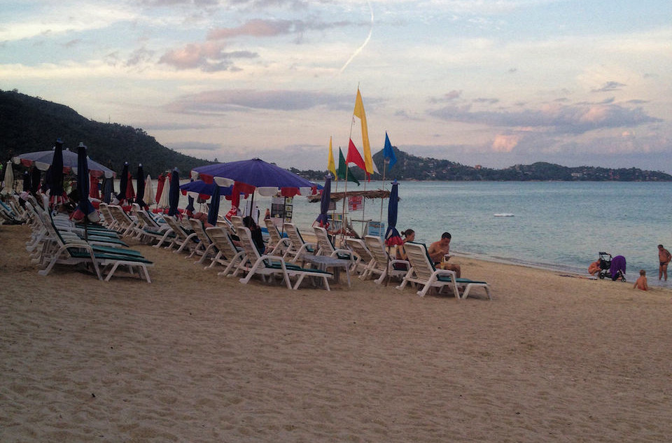 Lamai Beach in Sunset....